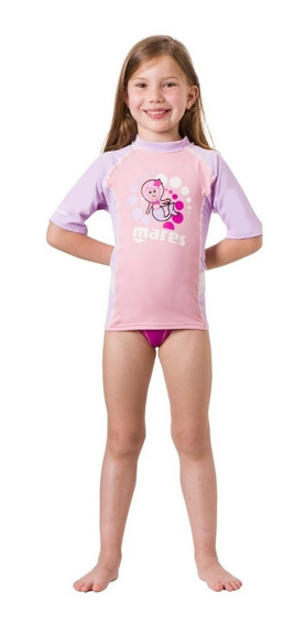 Remera Filtro Uv Mares Rash Guard Kids Girl 2/7 Años