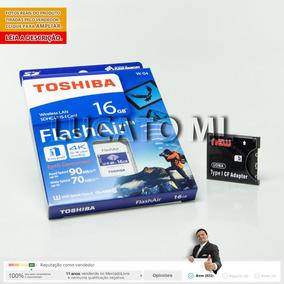 Adaptador Cf +cartão Sd Wifi 16gb W04 Flashair Toshiba | 12x