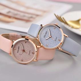 Relógio Feminino, De Couro