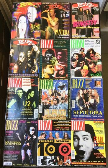 Revista Bizz 1993 (ano Completo 12 Edições) Perfeito Estado