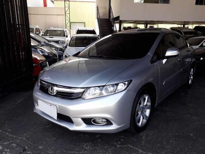 Honda Civic Exr 2.0 Flex 2014 Prata Com Teto