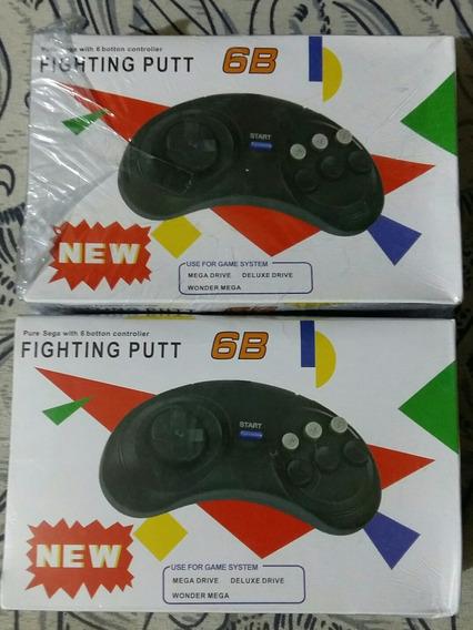 Controle Mega Drive Novo Lote 2 Peças Controle Gênesis Novo