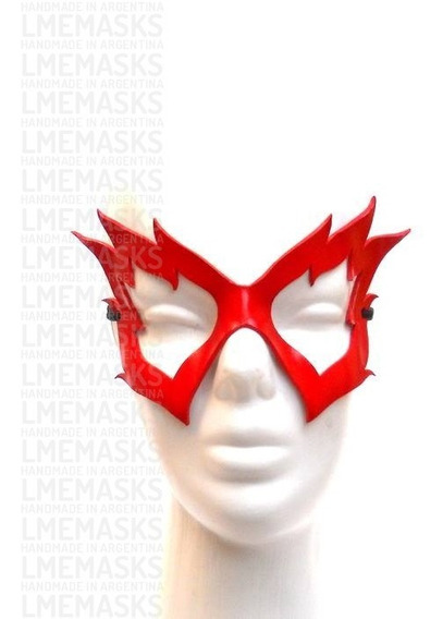Máscara Firestar Fuego Rojo Antifaz Cuero Cosplay Fire Star
