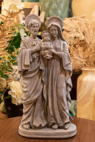 Sagrada Familia Cerámica Figura Religiosa Campoamor Deco