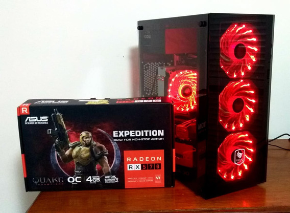 Pc Gamer Intel I7, Rx 570 4 Gb, 8gb Memoria, 1tb Hd Gamer