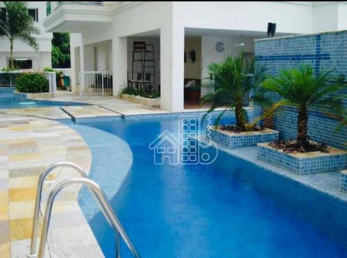 Apartamento Com 2 Dormitórios À Venda, 80 M² Por R$ 590.000,00 - Santa Rosa - Niterói/rj - Ap3256