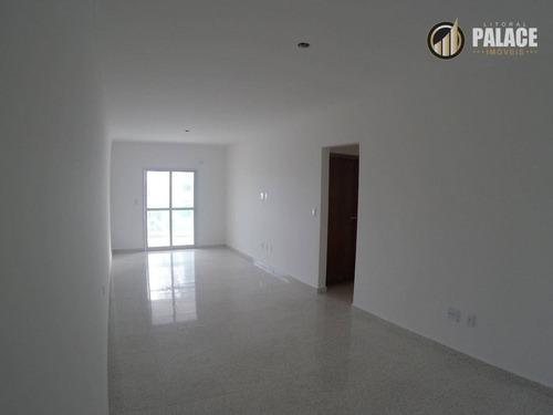 Apartamento Com 2 Dormitórios À Venda, 106 M² Por R$ 490.000,00 - Tupi - Praia Grande/sp - Ap1158