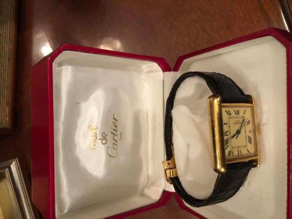 Reloj Cartier Original Dorado