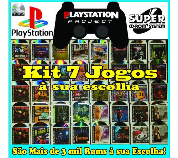 Kit 7 Jogos Patchs De Ps1 Playstation Psone À Sua Escolha