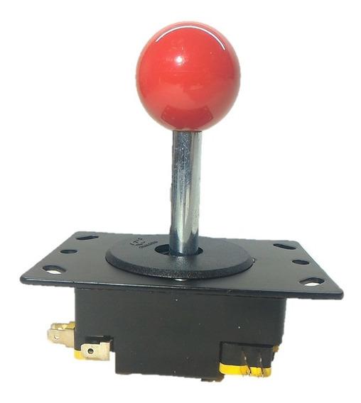 Controle Comando Fliperama Arcade Com Baltop Vermelho