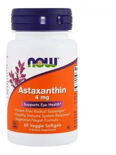 Astaxantina Astaxanthin, 4mg, 60 Softgels, Now Foods, Full