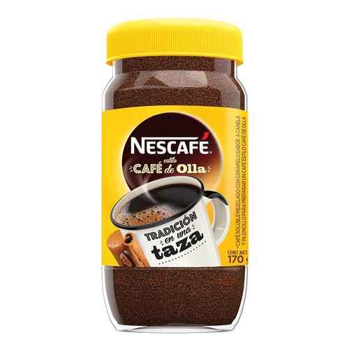 Imagen 1 de 2 de Café instantáneo clásico Nescafé de Olla frasco 170g