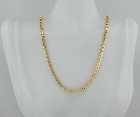 Corrente Veneziana Feminina Maxi 45 Cm Ouro 18k Cordão