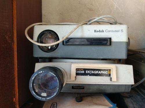 Lote Projetor Kodak Carousel S E Kodak Ekatagraphic Af