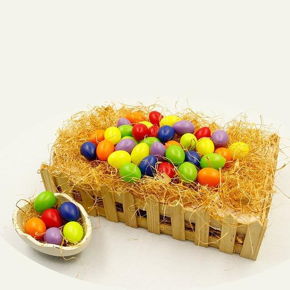 Juego De 36 Huevos De Plástico Para Manualidades, De Pascua,