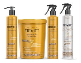 Kit Hidratação 1kg, Cauterização, Fluído E O Segredo Trivitt