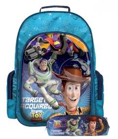 Kit Mochila Escolar G Toy Story 30430 + Estojo Soft 30427