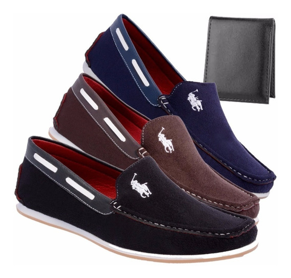 Kit 3 Sapato Casual Dockside Mocassim Masculino Blackfriday
