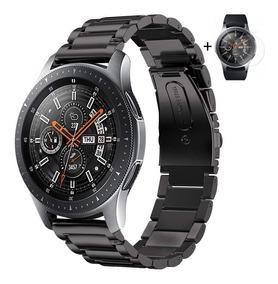 Pulseira Samsung Galaxy Watch 46mm Aço Inox Metal + Película