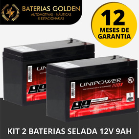 Kit 2 Baterias 12v 9ah - Patinete/bike Eletrica - Nobreak