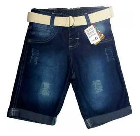 Kit 3 Bermuda Jeans Infantil Masculino Short Menino Atacado