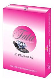 Kit Pedrarias Pra Unha 50 Pacotinhos Acompanha Caviar Metal