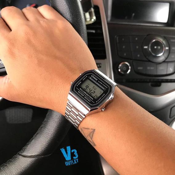 Relógio Casio Unisex A158 Vintage Prata A158wa-1df