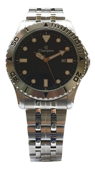 Relógio Champion Ca31560c Kit Pulseira Calendário