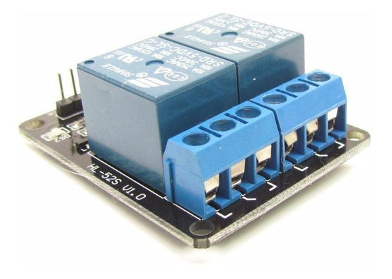 Relé 2 Canais 5v Projetos Arduino Automação Arm Pic Avr 10a
