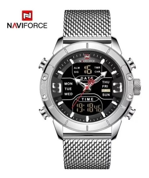 Relógio Naviforce Marca De Luxo Militar À Prova D