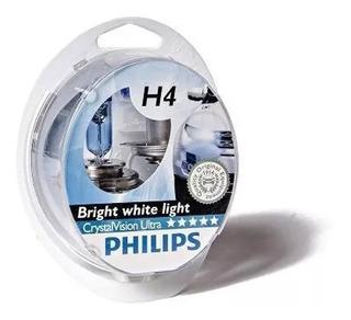 Lampara Halógena Crystal Vision Philips H4 12v 60/55 + 2,5w
