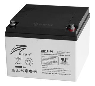 Batería Ciclo Profun Ritar Agm Gel 12v 26ah Solar Ups Cuotas