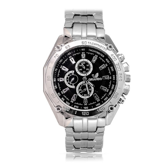 Relógio Barato Quartzo Masculino Aço Frete Gratis Na Caixa