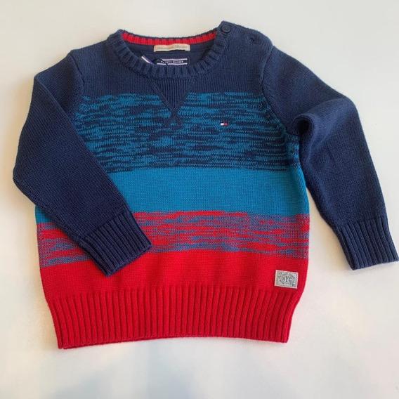 Blusa Suéter Tricot Tommy Hilfiger Menino Frete Grátis