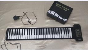 Piano Flexível 61 Peças Controlador Midi Usb
