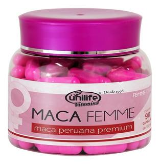 Maca Femme 550mg Maca Premium Unilife 90 Cápsulas