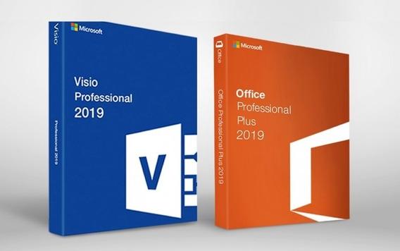 Pacote Visio + Office 2019 Chave Ativação Vitalicio