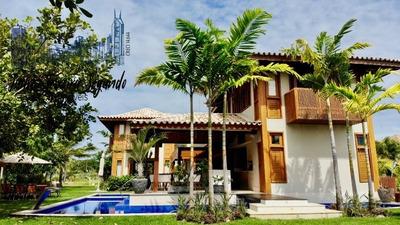 Casa Em Praia Do Forte 4 Suítes De Alto Padrão Na Praia Piscinas Naturais No Condomínio Das Acacias! - 02865 - 33591473
