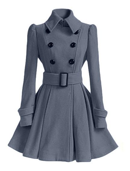 Otoño Invierno Abrigo De Las Mujeres De Moda Vintage Abrigo