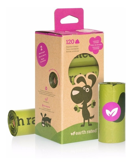120 Bolsas Oxo Biodegradable P/ Popo Perro Earth Rated Poop