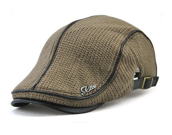 Boina Tejida Gorra Golf Tipo Gatsby Ajustable