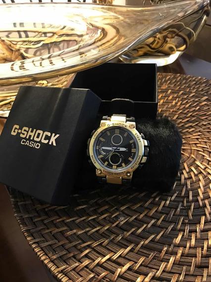 Relógio G-shock Metal Preto/douradoModelo Novo!