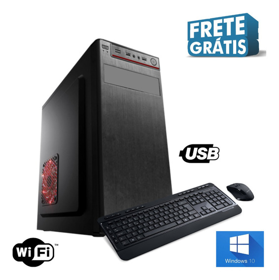 Cpu - Nova Dual Core 8gb Hd 500gb Windows 10 - Promoção !!