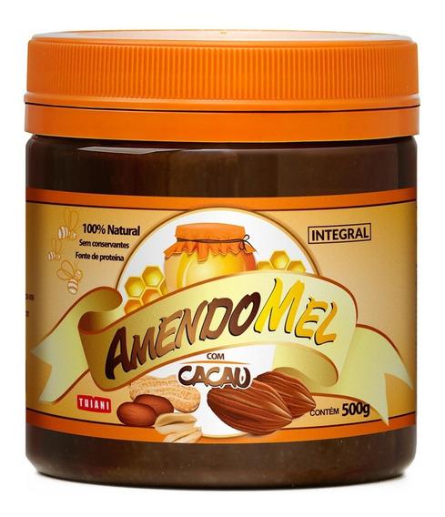 Pasta De Amendoim Amendomel 500g Cacau E Coco Sem Açúcar