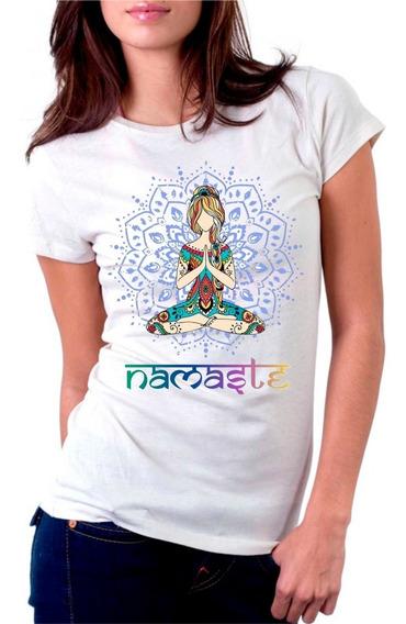 Camiseta Personalizada Namaste Gratidão Meditação Yoga