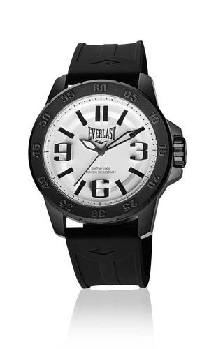 Relógio Pulso Everlast Masculino Esporte Silicone Preto E695