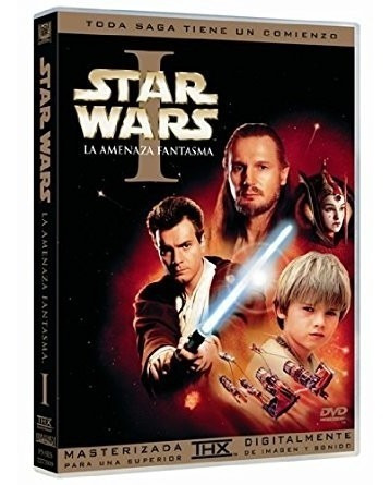 Star Wars La Amenaza Fantasma Episodio 1 Pelicula Dvd