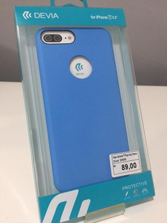 Capa iPhone 7 Plus / 8 Plus Azul Celeste Devia