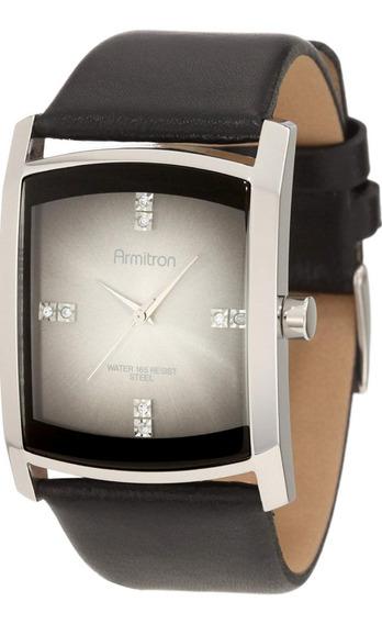 Reloj Armitron Nuevo Correa Piel Negra