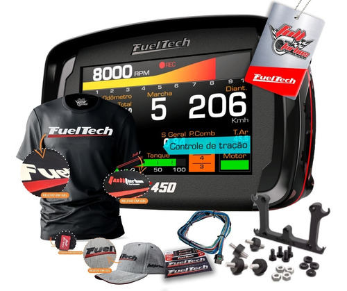 Fueltech Ft450 Com Chicote 3m + Ultra Brinde Camiseta Gel+bb